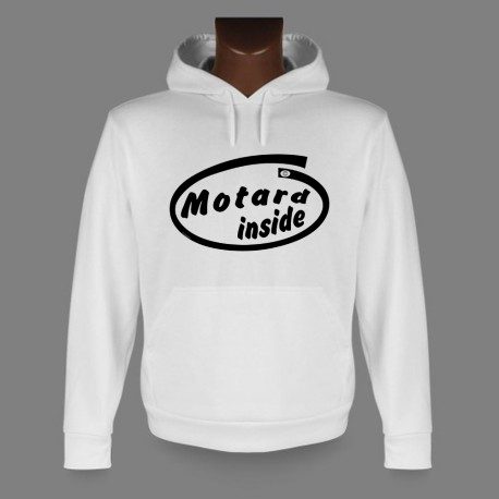Hooded Funny Sweat - Motard inside