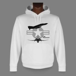 Kapuzen Jagdflugzeug Sweatshirt - F-4E Phantom II, für Damen und Herren