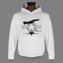 Women's or Men's Hooded Fighter Aircraft Sweatshirt - F-4E Phantom II
