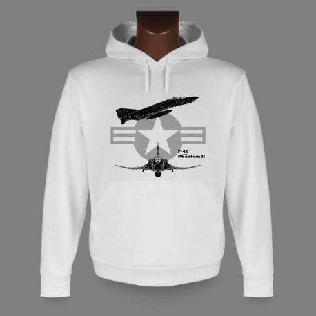 Sweat à capuche avion de combat - F-4E Phantom II - pour femme ou homme