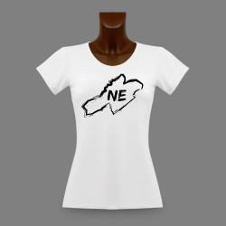 T-Shirt slim dame - Frontières Neuchâteloises au pinceau