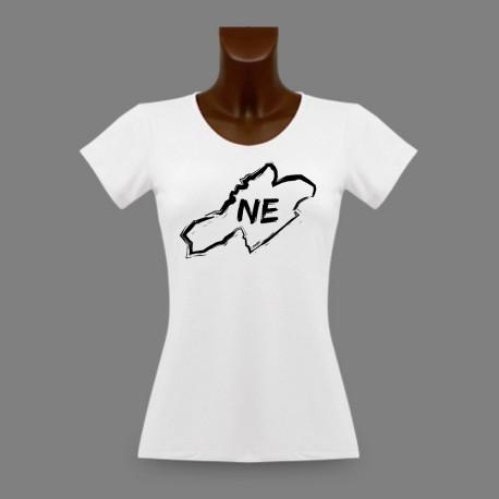Donna slim T-shirt - Neuchâtel confini e lettere NE
