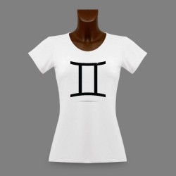 Donna slim T-shirt - segno astrologico Gemelli