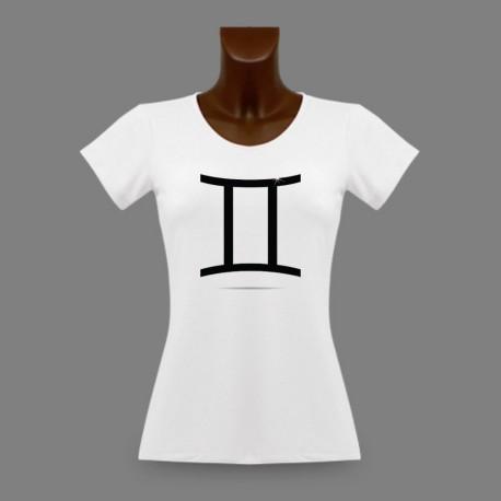 Women's slim T-shirt - Gemini astrological sign