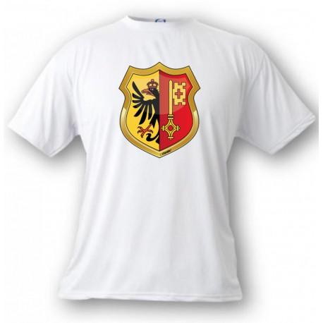 Kinder T-shirt - Genfer Wappen, White