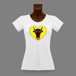 Donna slim T-shirt - Cuore Uri