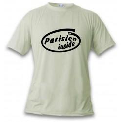 Herren Humoristisch T-Shirt - Parisien Inside, November White