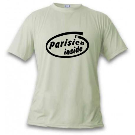 Men's Funny T-Shirt - Parisien Inside, November White