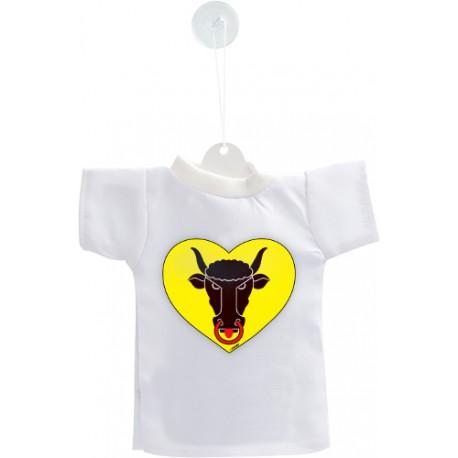 Mini T-Shirt - Coeur Uranais - pour votre voiture