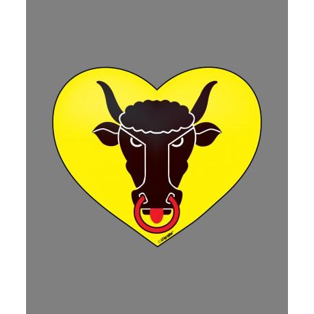 Sticker - Coeur Uranais - pour voiture, pc portable, smartphone, tablette