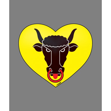 Sticker - Uri Heart, for car, notebook, smartphone