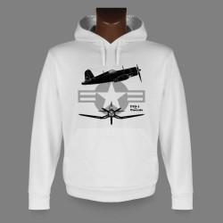 Kapuzen Jagdflugzeug Sweatshirt - F4U-1 Corsair, für Damen und Herren