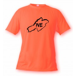 Donna o Uomo T-Shirt - Neuchâtel confini e lettere NE, Safety Orange