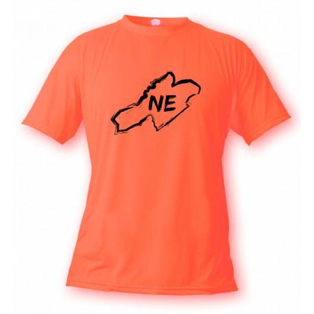 T-Shirt - Frontières Neuchâteloises au pinceau - pour femme ou homme, Safety Orange