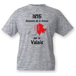 Kinder T-shirt - Valais 1815, Ash Heater