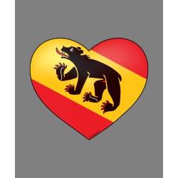 Sticker Herzaufkleber - Berner Herz - für Auto, Laptop oder Smartphone Deko