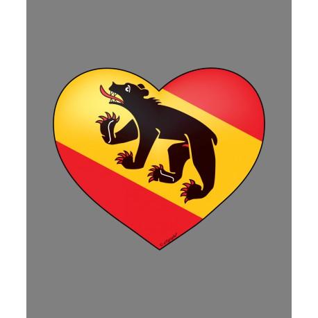 Sticker - Bern Heart, for car, notebook, smartphone