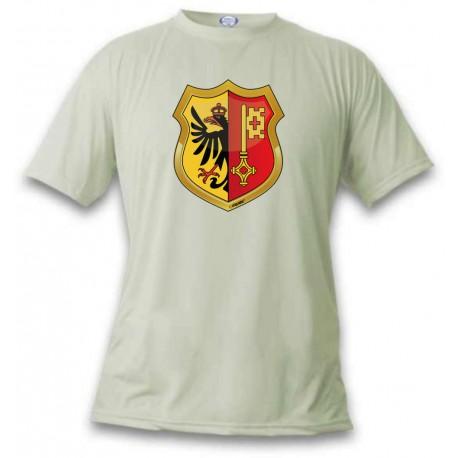 Uomo o Donna T-Shirt - stemma di Ginevra, November White