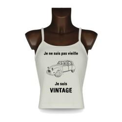 Frauen funny Top - Vintage Deuche, Natural