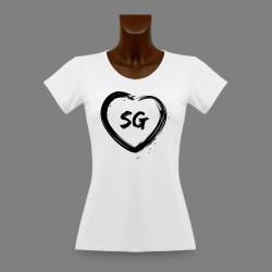 Donna San Gallo slim T-shirt - Cuore SG