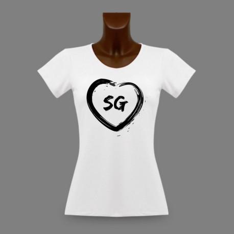 T-Shirt Saint-Gallois slim dame - Coeur SG