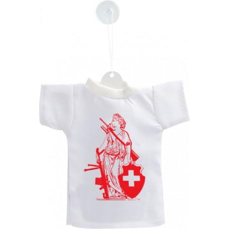 Mini T-shirt - New Dame Helvetia - RED Edition - pour votre voiture