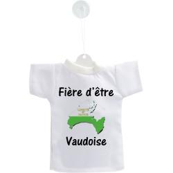 Mini T-shirt - Fière d'être Vaudoise, Frontières 3D - pour votre voiture
