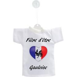 Mini T-shirt - Fière d'être Gauloise - Coeur - pour votre voiture