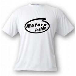 Herren Humoristisch T-Shirt - Motard Inside, White