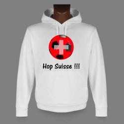 Sweat bianco a cappuccio Calcio - Hop Suisse