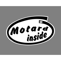 Funny Sticker - Motard inside, per Automobile
