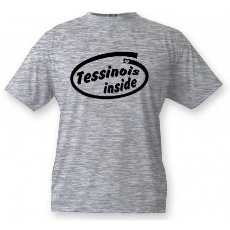 Men's Funny T-Shirt - Tessinois Inside, Ash Heater