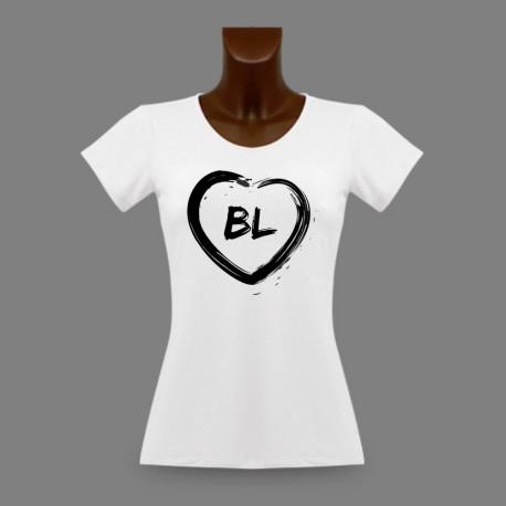T-Shirt slim dame Bâle Campagne - Coeur BL