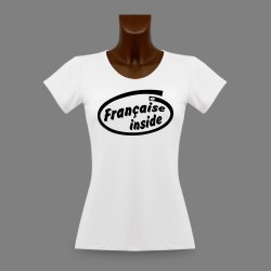 T-Shirt dame slim - Française Inside