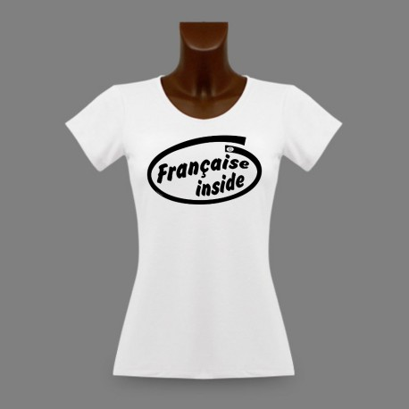 Frauen slim T-shirt - Française Inside
