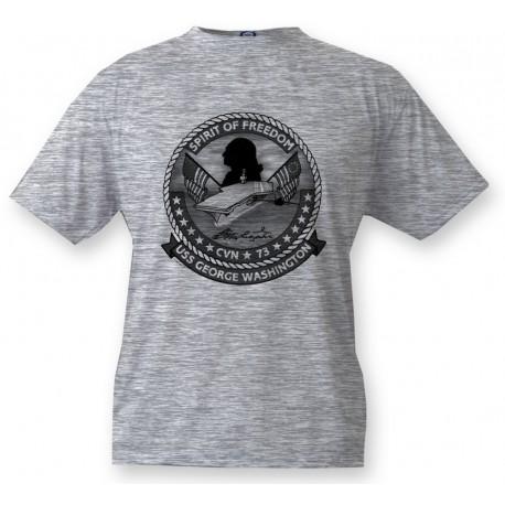 Kids T-shirt - Aircraft Carrier USS George Washington, Ash Heater