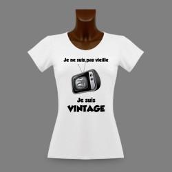 Frauen funny Slim T-shirt -  Vintage Fernsehen