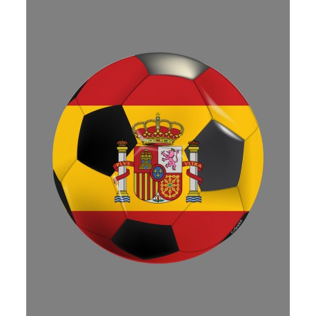 Car, Notebook or Smartphone Sticker - Spain soccer ball