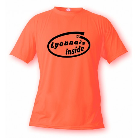 Uomo Funny T-Shirt - Lyonnais Inside, Safety Orange