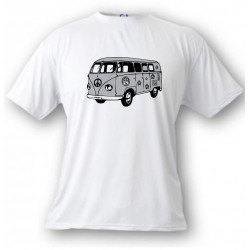 Kinder T-shirt - Hippies VW Bus, White