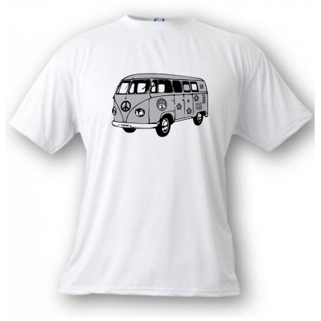 Kinder T-shirt - Hippies VW Bus, White