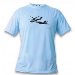 T-Shirt Kampfflugzeug - FA-18 & Super Puma, Blizzard Blue