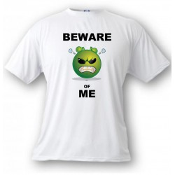 Uomo Funny T-Shirt - Beware of ME, White