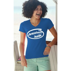 Women's FOTL cotton T-Shirt - Jurassienne Inside, 51-Royal Blue