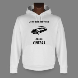 Kapuzen-Sweatshirt - Vintage Citroën DS