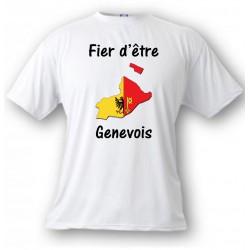 Uomo T-Shirt - Fier d'être Genevois, White
