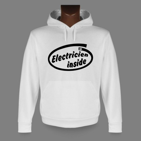 Hooded Funny Sweat - Electricien inside