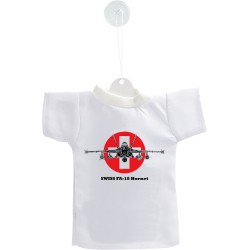 Car's Mini T-Shirt - Fighter Aircraft -  Swiss FA-18 Hornet - Color Version