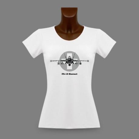 Donna slim T-shirt - Swiss FA-18 Hornet
