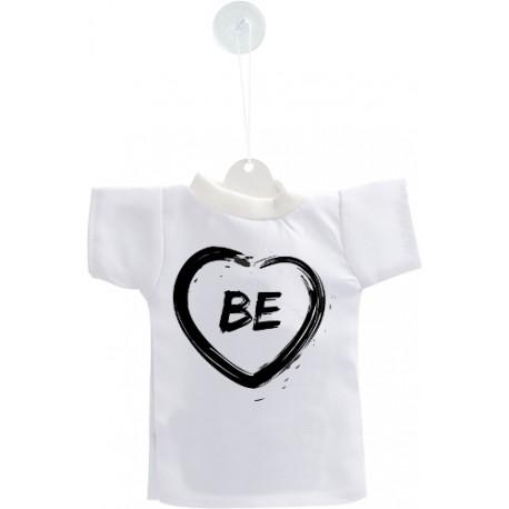 Mini T-Shirt Bernois - Coeur BE - pour voiture